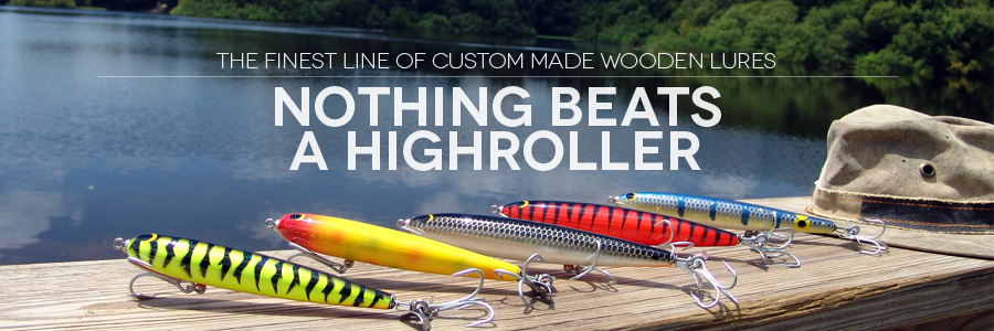 high roller fishing lures, custom made high caliber wooden lures!, Hard Baits